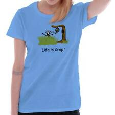 Life Is Crap Bee Attack Good Life Funny Shirts Gift Ideas Ladies T-Shirt