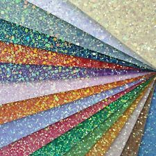 Chunky Frosted Glitter Fabric A4 Or A5 Sheets Faux Leather For Bows & Crafts