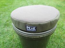 Peak angling products carp fishing Bucket cushion/seat green or camo