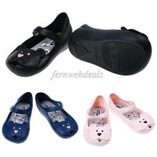 Baby Boys Girls Kids Jelly Shoes Spring Sandals Slip-On Flat Shoes Rain Boots