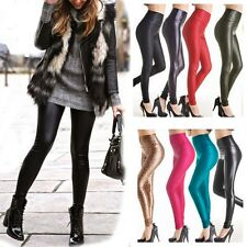 Lady Women's Leather Pants Stretch Leggings Tight Trouser Casual Party Trouser G
