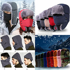 Winter Trapper Aviator Trooper Earflap Warm Ski Hat Cap With Mask For Men Women