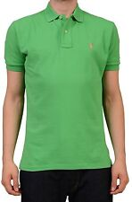POLO By RALPH LAUREN Solid Green Cotton Polo Shirt NEW