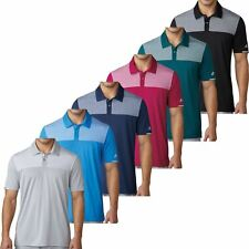 Adidas Golf 2017 Climachill™ Heather Block Competition Polo Mens Golf Polo Shirt