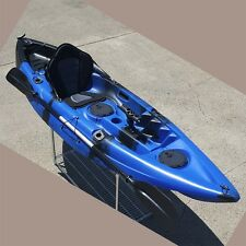 2.95M Single Sit-on Kayak Fishing Boat Canoe 5 Rod Holders Padded Seat Paddle