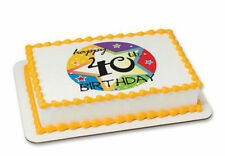Happy 40th Birthday 40 edible image cake topper frosting personalized #20010