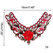 Collar Applique Floral Lace Lace Embroidered Neckline Applique Embroidered