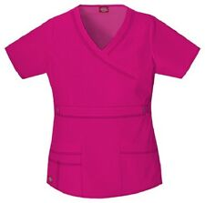Dickies Scrubs 817355 V Neck Scrub Top Dickies GenFlex Jr Fit Hot Pink