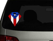 "Puerto Rico Vinyl Car Decal Sticker  6""(H) Puerto Rican Flag superman design No1"