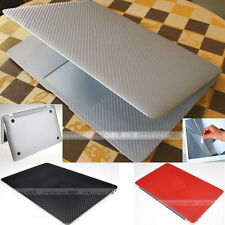 Carbon Fiber 3D Skin Sticker Cover Guard Protector fr Apple MacBook Air 13 A1466