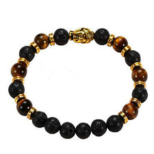 Lava Stone Charming Bangle Rock Elastic Bracelet Bracelet Buddha Beaded