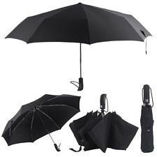 Creative 8 Ribs Automatic Three Folding Umbrella Strong Windproof Outdoor Use BE