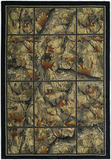 Hautman Camouflage Camo Area Rug~4 Sizes & Hall Runner~Hunting Cabin Lodge Rugs
