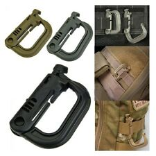 Locking Molle Snap D-Ring Carabiner KeyRing Clip