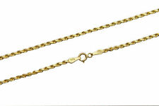 "Brand New 14k Yellow Gold 2mm Rope Chain Twist Link Necklace Size 16"" - 30"""