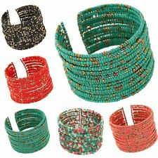 Chain Acrylic Beads Bohemian Beaded Bracelet Multilayer Bangle Women Jewelry