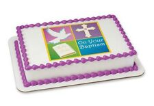 On Your Baptism edible image cake topper frosting sheet #19937
