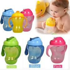 Baby Straw Infant Learning Drinking Handle Bottle BPA Free Sippy Cup