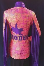Rodeo Queen, Parade, Patriotic, TETWP, Pink,Show Adult Blouse by Riding High USA