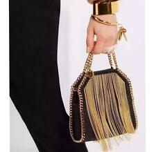 Women Chain Handbags Shoulder Bag Woven Tote Purse Falabella Folding Tassel Bag