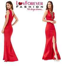 NEW RED EMBELLISHED MAXI DRESS WITH SPLIT DETAIL BALL PROM PARTY EVE DRESS(8-14)