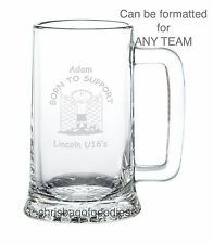 PERSONALISED SCOTTISH FOOTBALL TEAM FC Fan Club GLASS TANKARD Gifts for Him Her
