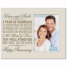 1st Anniversary Wedding Gift Personalized 4x6 Picture Photo Frame Engraved