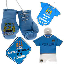 Manchester City FootBall Club Boxing Gloves Car Hanging Kit Baby Board Window