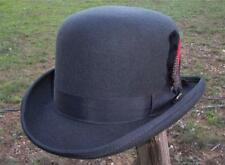 NEW Scala Charcoal Wool BOWLER DERBY Satin Lined Tuxedo Dress Hat NWT QUALITY
