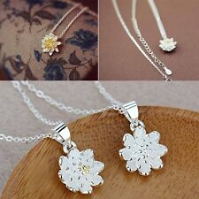 Ladies Lotus Necklaces Short Necklace For Women Jewelry Collar Choker Necklace