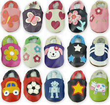 Soft Leather Baby Shoes Size 0-6-12-18-24 Months Boys Girls Pre Walker Pram