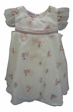 Girls Floral Party Dress With Headband Ivory/Pink