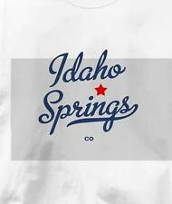 Idaho Springs, Colorado CO MAP Souvenir T Shirt All Sizes & Colors