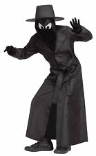Spy Guy Child Shadows Black Costume Overcoat With Belt Halloween Funworld