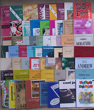 """SHEET MUSIC & BOOKLETS FOR THE PIANO.    """"A"""""""