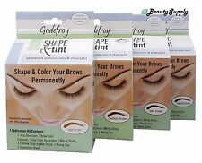 Godefroy Shape & Tint permanently eyebrow color and shaping Kit Color Choices !!