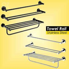 700mm Round Towel Rack Rails Bathroom Shelf Holder Stainless Steel Black/Chrome