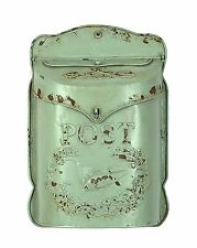 Mailboxes Residential Home Interiors Wall Decor Mount Vertical Embossed Aqua Tin