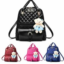 Women Girl School PU Leather Shoulder Bag Backpack Travel Rucksack Purse US