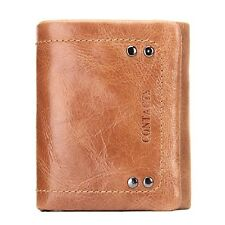 New  Leather Trifold Wallets Card Holder Short Solid Hasp Coin Purse