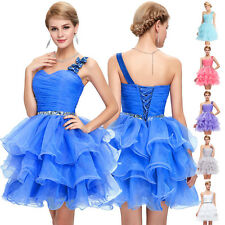One Shoulder Short Mini Evening Graduation Dress Ball Party Prom Gown Homecoming