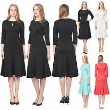 MARYCRAFTS WOMENS ELEGANT EVENING TEA MIDI DRESS PARTY COCKTAIL FISHTAIL DRESSES