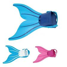 Kids Mermaid Swimming Flipper Tails Fin Monofin Girls Toy Swimmable Costume N9A9