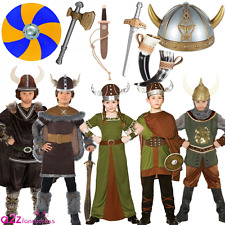 CHILDRENS VIKING SAXON HISTORICAL BOOK WEEK KIDS BOYS GIRLS FANCY DRESS COSTUME