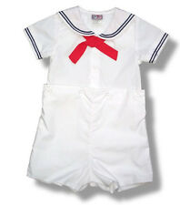 Petit Ami Sailor Suit Boys White Infant Toddler NWT Easter Nautical
