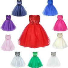 Pageant Flower Girl Dress Kids Birthday Wedding Bridesmaid Gown Formal Dress