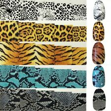 Colorful Nail Art Nail Full Wrap Decals Decoration Water Transfers Stickers Tips