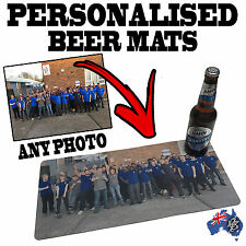 PERSONALISED BAR RUNNERS beer mat drip mat cocktail pub hotel gift birthday gift