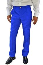 Versus Versace Mens  Pleat Front Slim Fit Dress Pants, Royal Blue