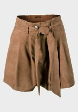 BNWOT Jane Norman Ladies brown suedette shorts with belt UK size 8 10